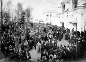 Крестный ход в Спасо-Яковлевском монастыре 28-10-1909