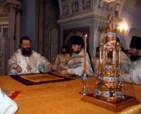 Освящение Владыкой Кириллом престола в Димитриевском соборе 26 сентября 2009 г. Ростов-Великий