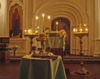 Надвратный храм  Авраамиевой обители 10 ноября, в день 300-летия памяти</p> <p>святителя Димитрия