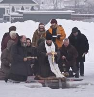 Освящение воды на озере Неро священником Александром Парфёновым.2010 Ростов