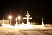Ледяной городок на Иордани Троице-Сергиев Варницкий монастырь 2010