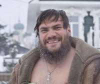 отец Александр Парфёнов после купания. Крещение 2010