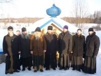 Ростовские батюшки на источнике в Глебово
