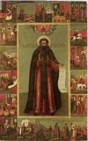 икона Петр царевич Ордынский, в житии. XVII-XIX в.