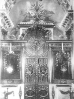 Фрагмент главного иконостаса церкви Воскресения Лазаря Ростова Великого. Фото конца 20-х начала 30-х гг. XX в.