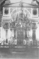 Главный иконостас церкви Воскресения Лазаря Ростова Великого. Фото конца 20-х начала 30-х гг. XX в. ГМЗРК 51185