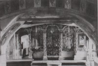 Вид на восточную часть интерьера нижнеи придельном церкви Иоанна Златоуста и Тихона Амафунтского. Фото 1920-х годов. ГНИМА. Б/н.